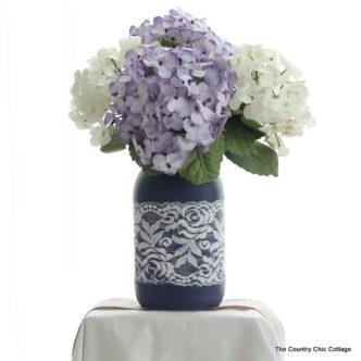 Lace Mason Jar Vase
