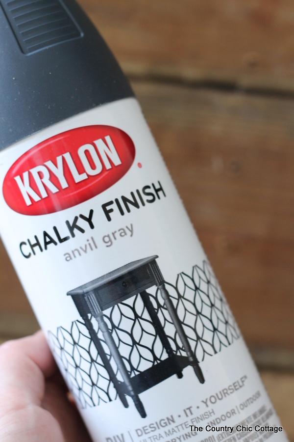 krylon chalky finish spray paint can