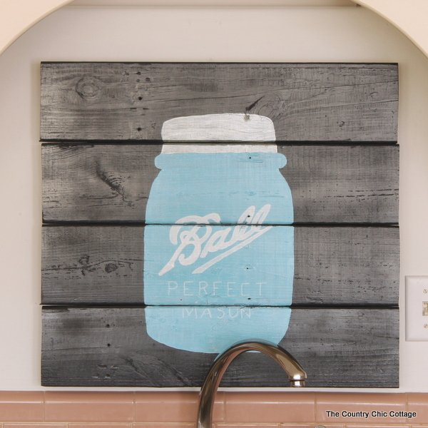 Mason Jar Pallet Art Make This Home Decor For Your Or As