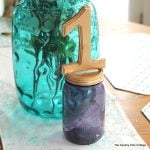 Mason jar table number for weddings -- a quick and easy way to make table numbers for your event!