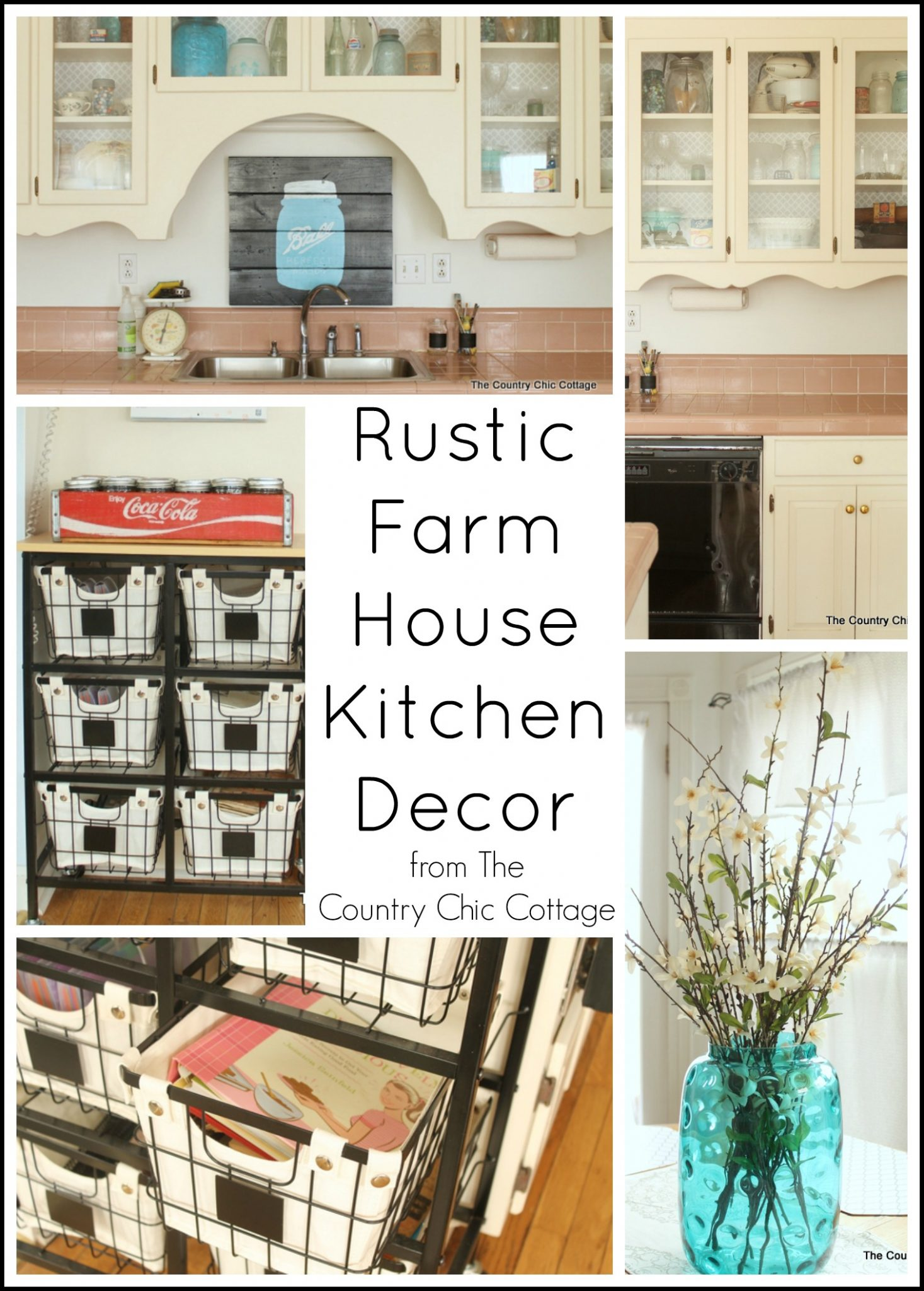 Rustic farmhouse kitchen decor the country chic cottage for Farm style kitchen decor