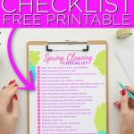 Download this free spring cleaning checklist printable and get started today! We also have some all-natural cleaning recipes to help you get started with what you have around your home! #springcleaning #printable #freeprintable #cleaning #checklist