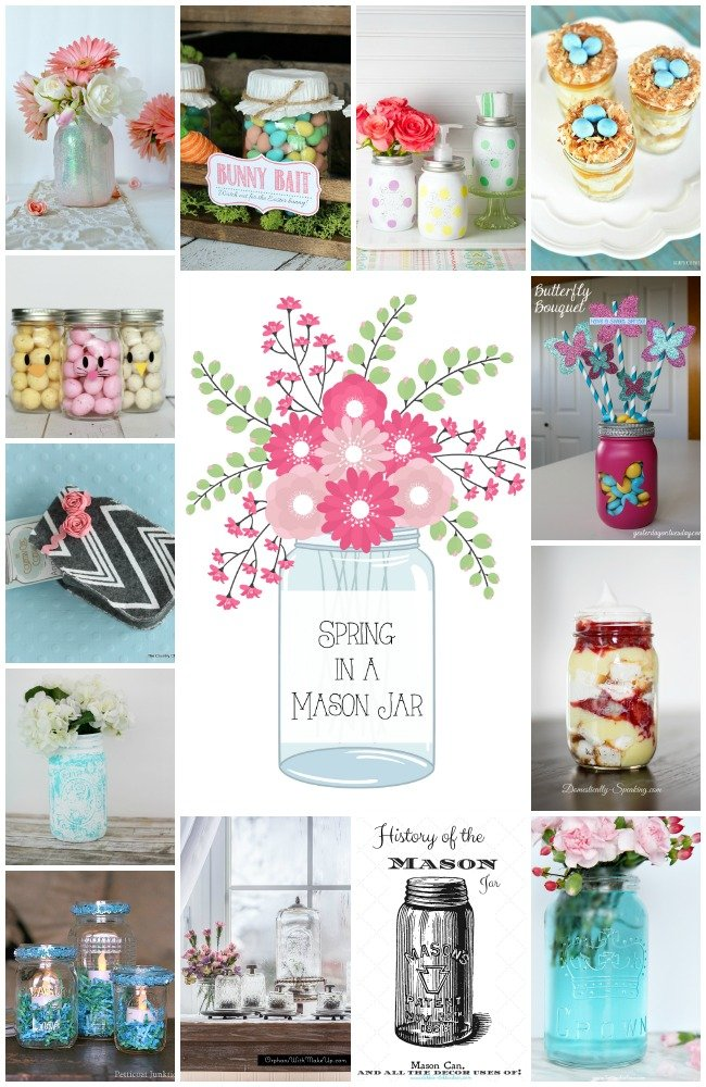Get ton of ideas for spring mason jar crafts!