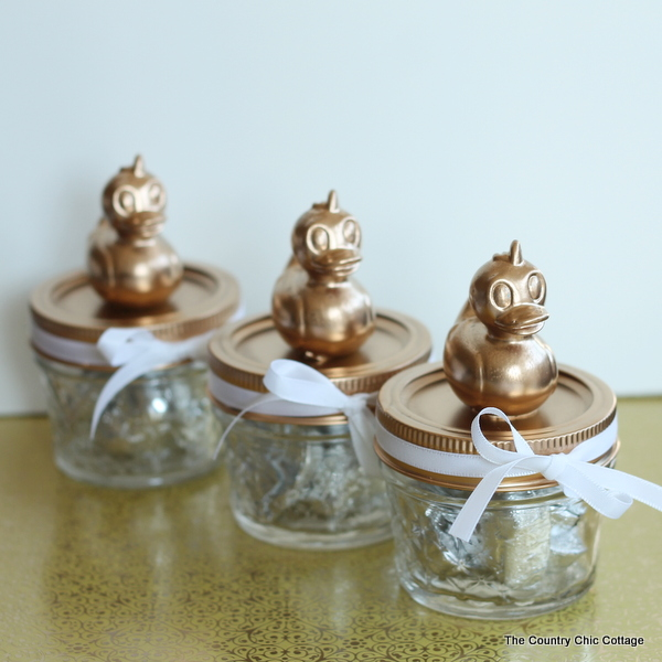 baby shower mason jar favors add a simple topper to mason jars for