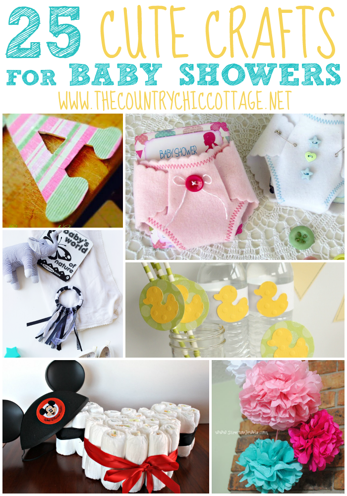 Great baby shower ideas here! Make these baby shower crafts for your event!