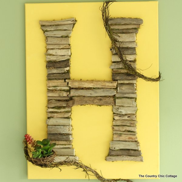 Driftwood Monogram Art - The Country Chic Cottage