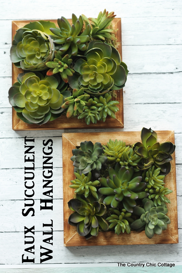Exceptional A Fun Faux Succulent Wall Hanging That You Can Make In 10 Minutes Or Less!
