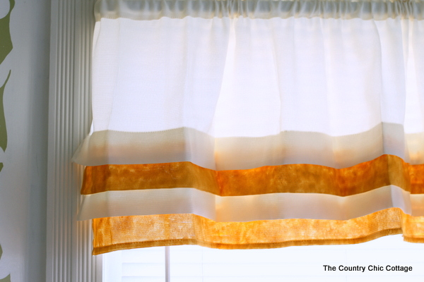 Metallic Gold Tiered Valance Paint Curtains With And This Super Simple