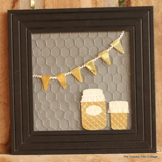 Metallic mason jar art -- make this art for your home with thin sheet metal. It is easier than you think!