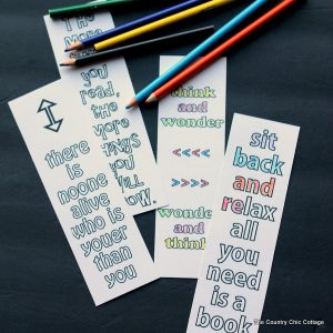 Print these free printable Seuss quote bookmarks for your kids, teacher, or yourself!