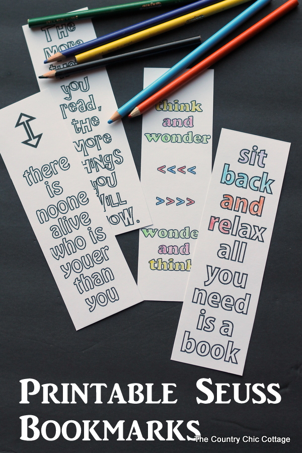 image regarding Free Printable Bookmarks With Quotes named Printable Seuss Quotation Bookmarks - The Place Stylish Cottage