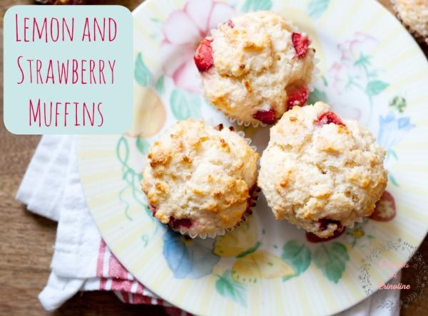 Strawberry and Lemon Muffins from cupcakesandcrinoline.com