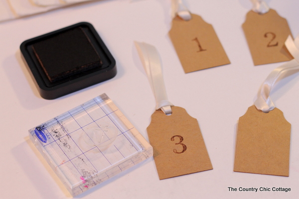 Each tag is stamped with a number--marking the days leading up to the end of Finals Week!