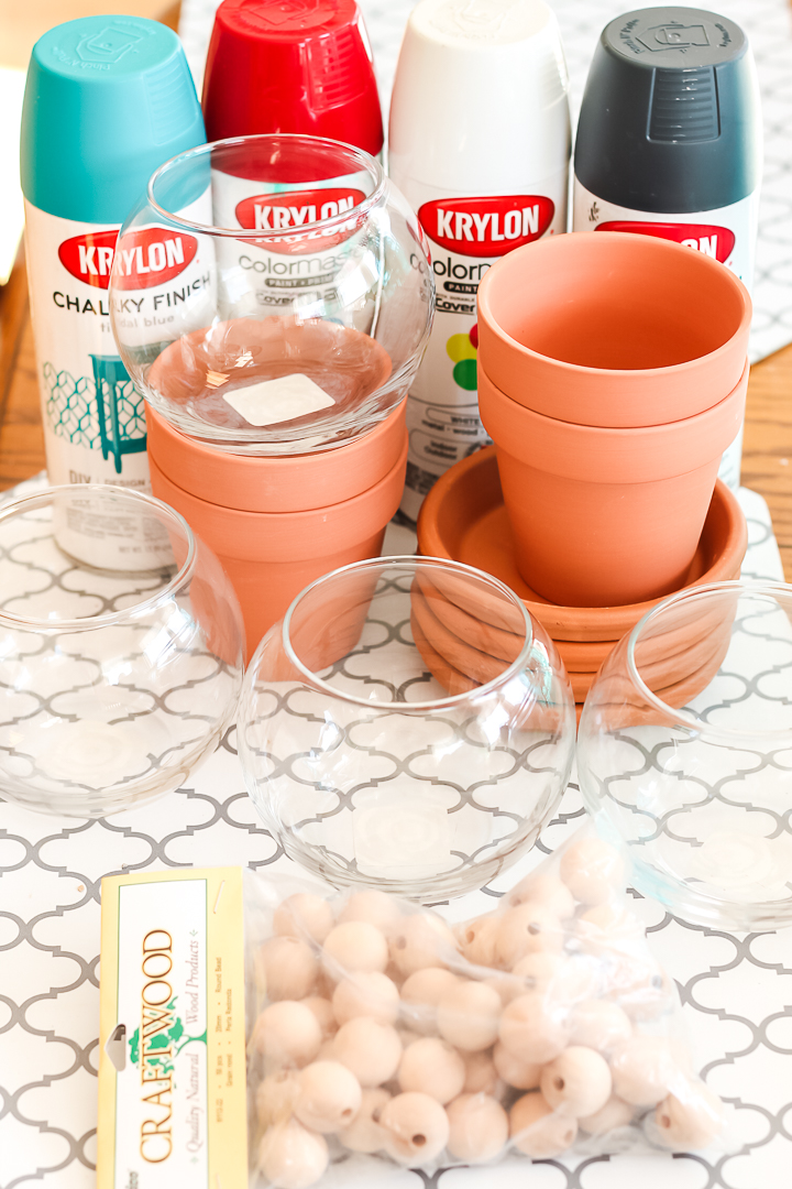 supplies to make gumball machine from flower pots