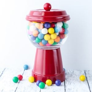 gumball machine from terracotta pots