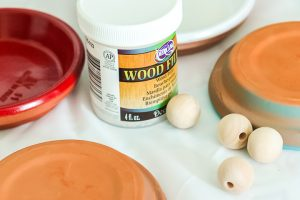 using wood filler on wood beads