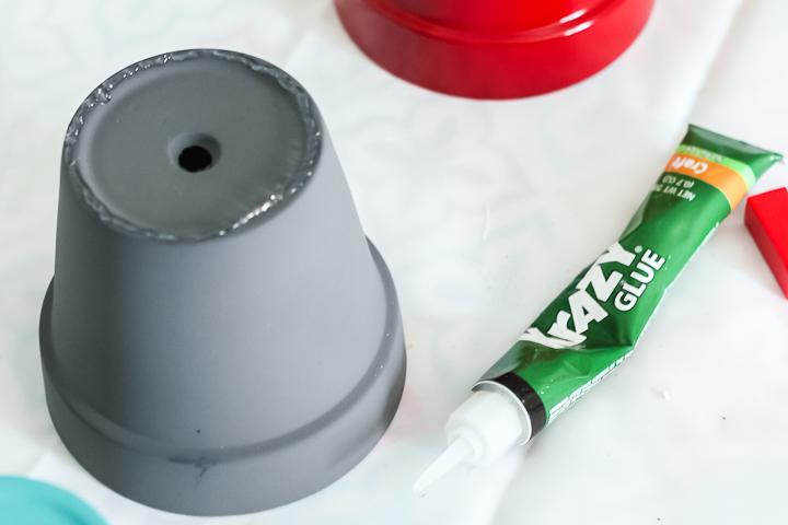 using krazy glue on terracotta pots