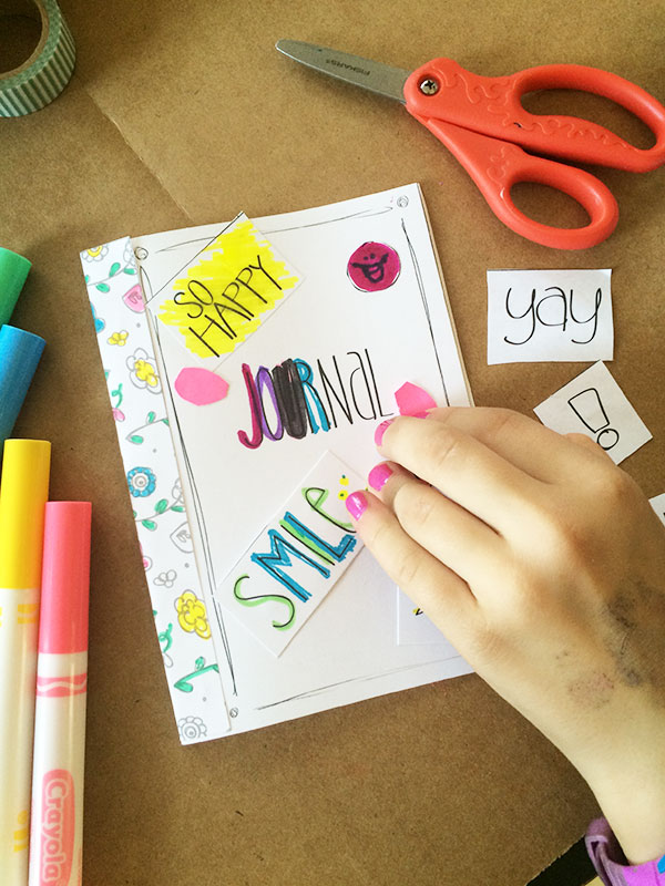 Decorate the journal cover