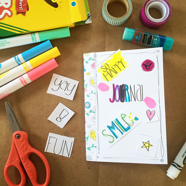 Make your own journal with these supplies