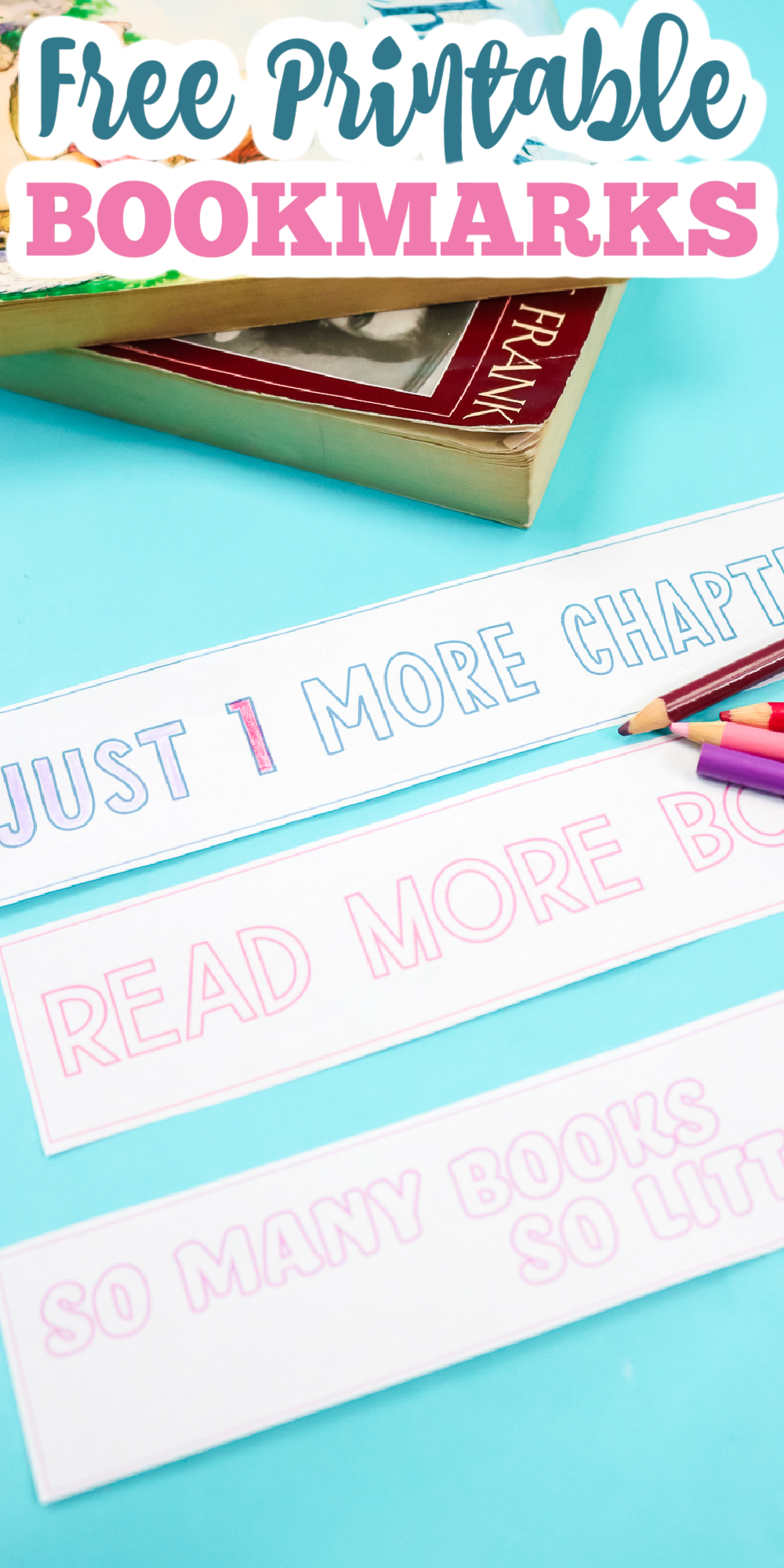 free printable bookmarks for those that love books