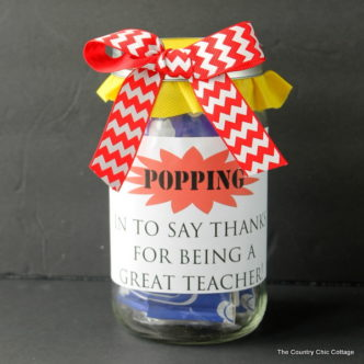 Popcorn Teacher Gift in a Jar