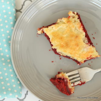 Red velvet cream cheese gooey cake -- this recipe is amazing!