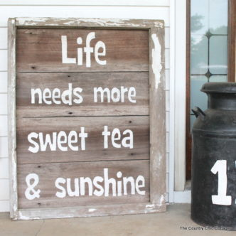 Rustic Sweet Tea Sign