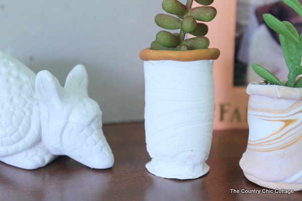 Succulent planters from clay --- easy to make simply adorable!