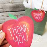 Painted style apple gift tag by Jen Goode