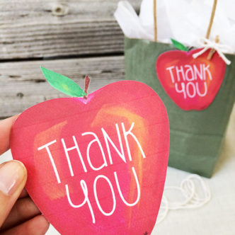 Teacher Appreciation Thank You Gift Tag