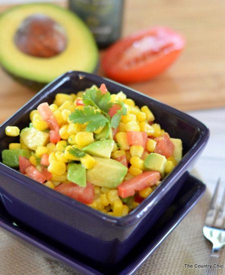 Avocado Corn Salad Recipe -- a delcious summer time side dish.