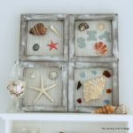 Beach Themed Shadowbox Art -- a fun nautical themed art for your home. Add in shells and beach treasures from your vacation!