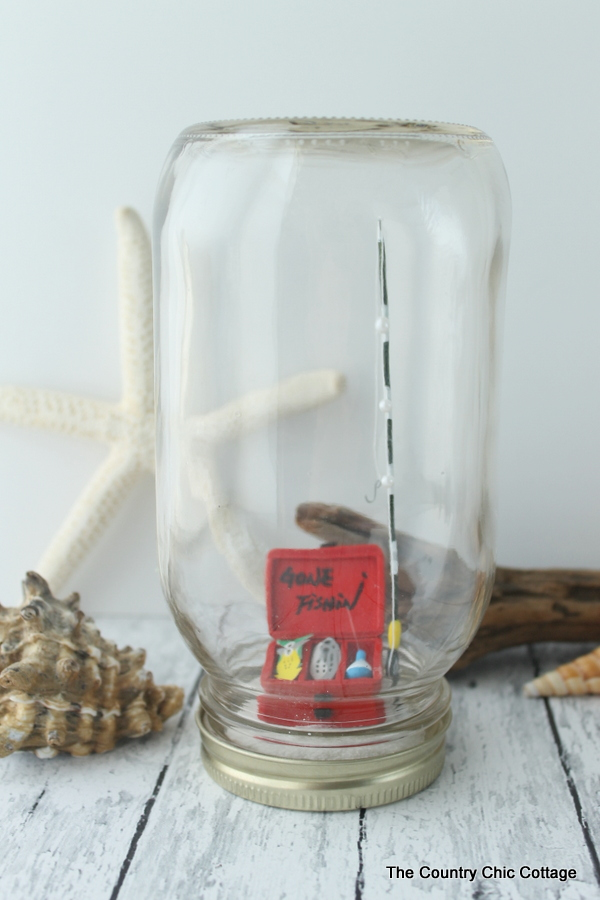 Beach Mason Jar Terrariums -- the perfect way to decorate for summer! Add any miniatures you love!