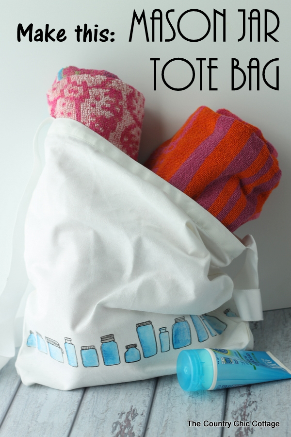 Make this mason jar tote bag! A quick and easy project that you will love to show off!