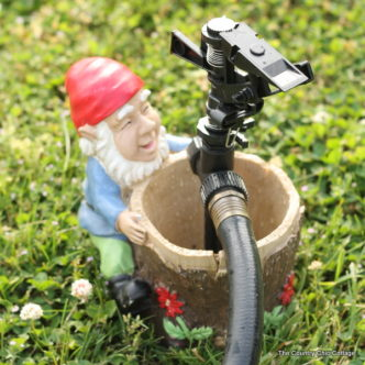 Make your own gnome sprinkler to water your garden or flowers in style! A quick and easy project for your home!