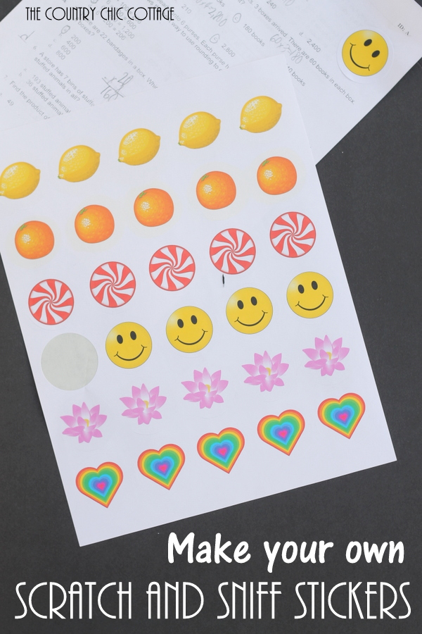 make your own scratch and sniff stickers