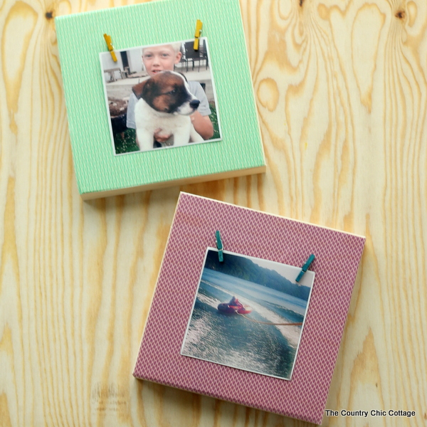 Make these washi tape Instagram frames in just minutes with these instructions!