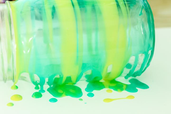 staining mason jar glass