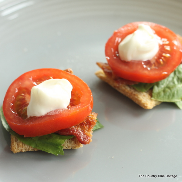 BLT Appetizer Recipe with Triscuit crackers