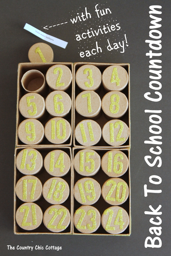 A back to school countdown calendar with fun activities in each day.  Make this and print the activity sheet here!