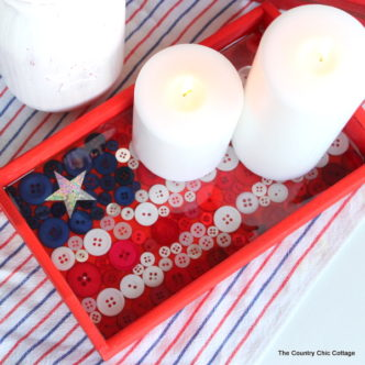 Button Flag Tray