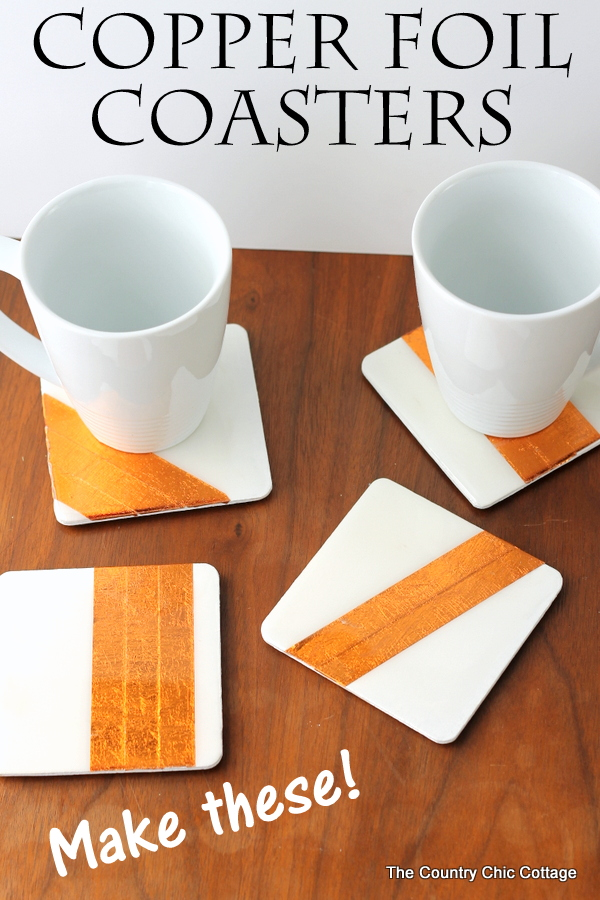 Make these copper foil coasters easily with these step by step instructions.