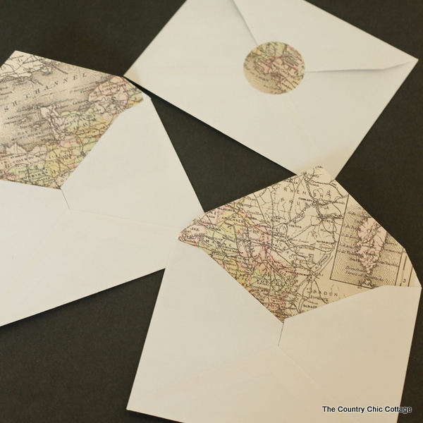 Making Map Lined Envelopes The EASY Way!