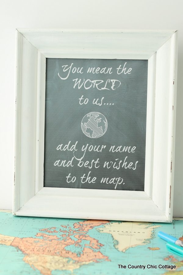 Using A Map As Wedding Guest Book