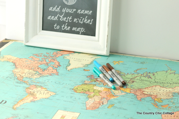 Map wedding guest book the country chic cottage using a map as a wedding guest book gumiabroncs Gallery