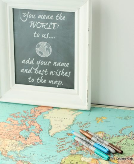 Brilliant! Using a map as a wedding guest book!