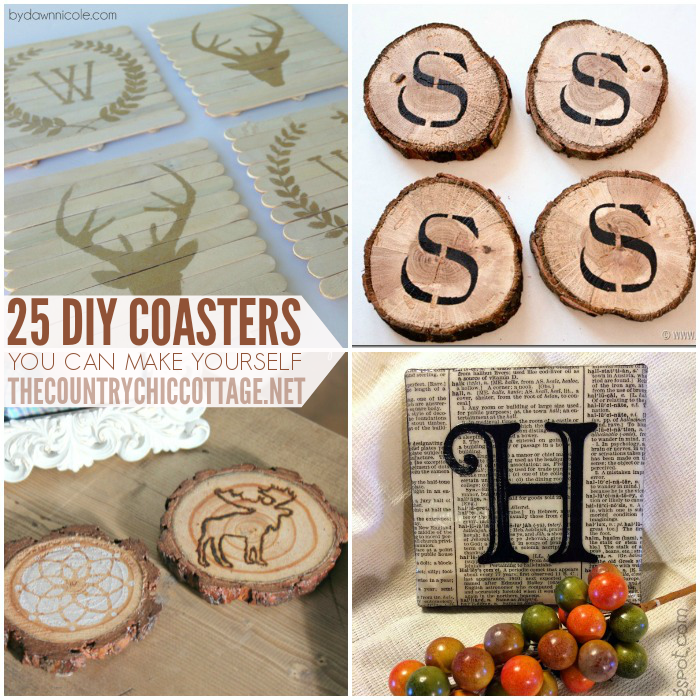25 Coaster Crafts to make for your home!