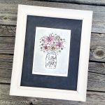 Floral Art Card framed decor - free printable by Jen Goode