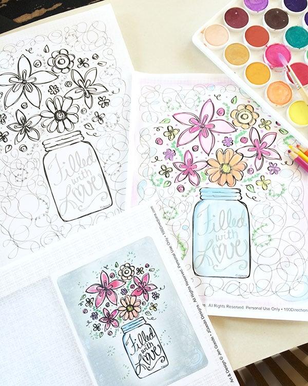 Adding color for floral art