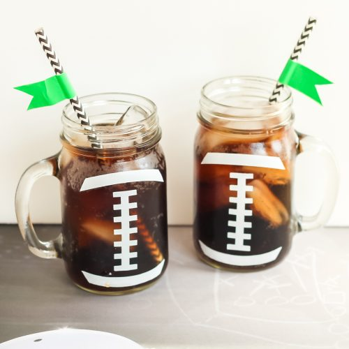 football glasses for a party